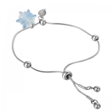Гривна с кристали Swarovski® EDELWEISS 14мм White Opal - Опал, Код PR B442A