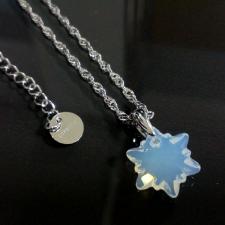 Бижута с кристали Swarovski® EDELWEISS Колие и Обеци, (14 и 10мм) White Opal - Опал, Код PR S627