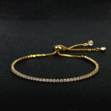 Гривна с кристали SWAROVSKI® ДАКОТА с 18К Жълто Злато, Zerga Brand ZG B454