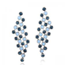 Обeци с кристали SWAROVSKI® МАРГО, ZERGA BRAND, Код ZG Е455