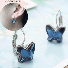 Бижута с кристали SWAROVSKI® BUTTERFLY BLUE, Колие и Обици ZERGA BRAND, Код ZG S458