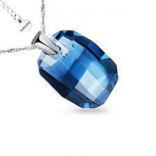 Колие с кристали Swarovski® GRAPHIC 19мм Denim Blue, Син, Код PR N492