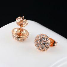 Обеци ЛАДА Swarovski Elements, колекция Zerga, розово златно покритие, Код ZG E464