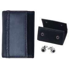 Луксозен комплект ръкавели с калъф от естествена кожа DSE Swarovski Elements, Код 5082434