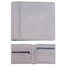 Луксозен мъжки портфейл DSE Swarovski Elements, св. сива кожа и кристали, Код 5082450