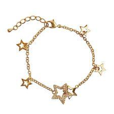 Гривна Звезди DSE Swarovski Elements, 18К златно покритие, Код 5087614