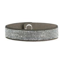 Луксозна гривна Шик и Чар DSE Swarovski Elements, сребристи кристали, Код 5087706