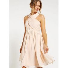 Феерична рокля ANNA FIELD в цвят шампанско, Размер M, Код DD120