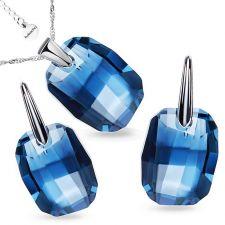 Бижута с кристали Swarovski® GRAPHIC 19мм Denim Blue, Син, Код PR S492