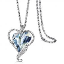 Красиво Колие BIG HEART IN LOVE, GLORY  Swarovski Elements, Код ZD N017-B
