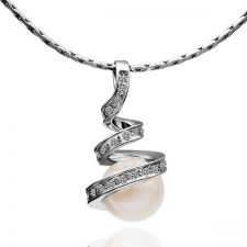 Колие НЕЖНА ПЕРЛА, Zerga Collection - бяло златно покритие,18KG N05134