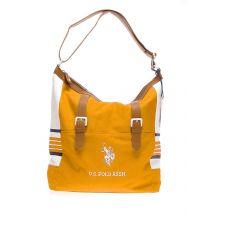 Спортна чанта U.S. Polo Assn в бяло и жълто, Код F283