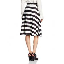 Разкроена дамска пола NEW LOOK на черно и бяло райе, Размер XS/S,  Код SK0009