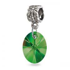 Талисман МАГИЧЕСКИ ОВАЛ от Swarovski® в свеж зелен цвят, Код PR V052