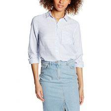 Дамска риза на райе NEW LOOK в бяло и синьо, Размер S, Код BL0118