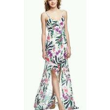 Дълга рокля GUESS с флорални мотиви, Размер L-XL, Код DD0145