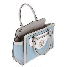 Екстравагантна чанта U.S. Polo Assn в бяло син цвят, Код F280