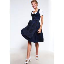 Дамска рокля ALMSACH тъмно синя с престилка на точки, Код DD0025-AS