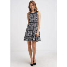 Официална рокля ANNA FIELD цвят черно-бял, Код DD0075