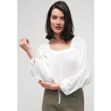 Дамска блуза ANNA FIELD с винтидж дантела, Размер M-L, Код BL407