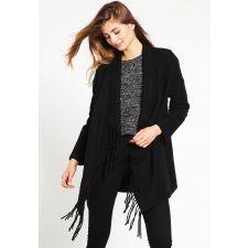 Стилнa дамска жилетка ANNA FIELD с ресни в черен цвят, Размер S, Код JA004