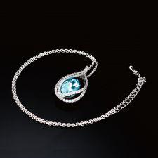 Колие АКВА СТОУН с кристали SWAROVSKI®, Zerga brand, Код ZG N560