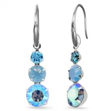 Висящи обеци Magic с кристали SWAROVSKI® CHATON, Air Blue Opal,Син цвят, Код PR E634