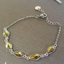 Гривна с кристали SWAROVSKI® FLAME, Iridescent Green 10 мм, Зелен цвят, Код PR B619