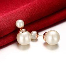 Обеци АНТАЛИЯ с бяла перла, Zerga Brand, Код 18KG E02522-D-2