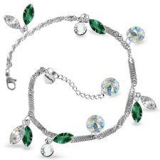 Гривна AMIKOS SWAROVSKI® MARQUISE 10мм Emerald - Зелен, Код PR B534
