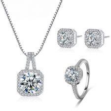Бижута ЖЕЛАНИЕ с кристален цирконий, Колие с Обеци и Пръстен, Zerga Brand ZG S574
