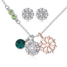 Бижута NIEVE GREEN, Колие и Обеци с кристали от Swarovski®, Zerga Brand, ZGFNS S551