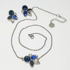Нежни Бижута DIVNA с кристали Swarovski®, Multi / Montana, Син цвят, Комплект Колие и Обеци, Код PR S664