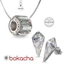 Колие ВЕЧНО ЗДРАВЕ с кристали Swarovski® PAVE BEADS Crystal, Бял, Неръждаема Стомана, Код PR N676