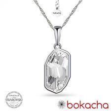 Колие с кристали SWAROVSKI® METEOR в Crystal - Бял цвят, Код PR N653
