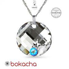 Колие STAR с кристали SWAROVSKI® TWIST 18мм, CAL V SI - Бял цвят, Код PR N649