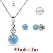 Бижута MAGIC SWAROVSKI® CHATON, Air Blue Opal, Син цвят, Колие и Обеци, Код PR S617