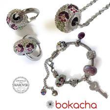 Бижута с талисман ВЪЛШЕБНА ГРАДИНА. Колие, Обеци и Гривна, Swarovski® Pave Beads, Код PR S531-3