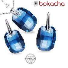 Бижута с кристали Swarovski® GRAPHIC 19мм Denim Blue, Син, Код PRFNS S492