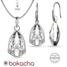 Бижута с кристали SWAROVSKI® SLIM TRILLIANT Crystal, Бял цвят, Колие и обеци Код PR S631A