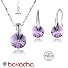 Бижута с кристали Swarovski® RIVOLI Violet AB - Светло лилав, Колие и обеци 8мм, Код PR S380