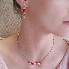 Обеци CANDY SWEET с кристали Swarovski®, розово-червен цвят, Неръждаема Стомана, Код PR E690