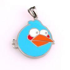 Бижута за деца ANGRY BIRDS Синьото птиче, висулка, медицинска стомана, 316L P208