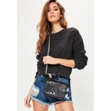 Чанта Missguided в елегантен черен цвят, Код F255