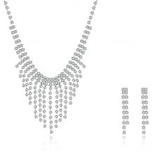 FINAL SALE! Бижута КАН, Колие и Обеци с Австрийски кристали, Код UB S030