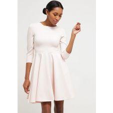 Дамска рокля CLOSET плътна материя в розов цвят, Код DD0049