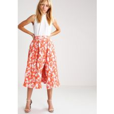 Колоритна рокля FROCH and FRILL от плътна материя на оранжеви пеперуди, Размер XL-XXL, Код DD121-2