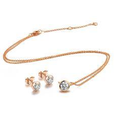 Бижута КАЛИ SWAROVSKI® Crystals с розово златно покритие, Zerga Brand Код ZG S464-A