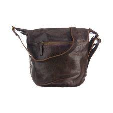 Стилна Чанта Cowboysbag от естествена кожа в тъмнокафяв цвят, Код F151