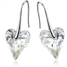 Обеци SWAROVSKI® WILD HEART Crystal 12мм, Бял цвят Код PR E410